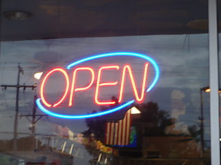 Open - a welcome 'sign' in Lafayette this morning