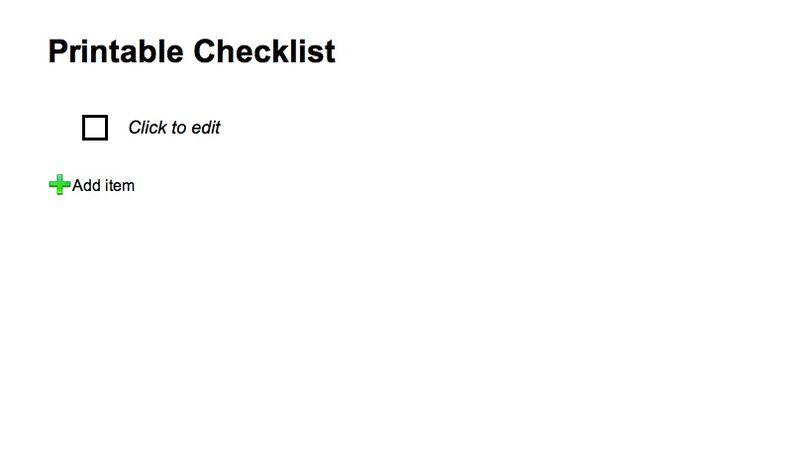 Printable Checklist (20090210)